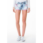 Tally Weijl Acid Wash Shorts with Pink Pockets