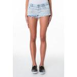 Tally Weijl Blue Lace Denim Shorts