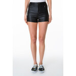 Tally Weijl Black Leather-Like High Waist Shorts