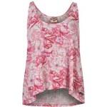 Lee Cooper All Over Print Swing Vest Ladies, bright pink