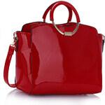 LS fashion LS dámská lakovaná kabelka se zlatým kováním LS00387 červená