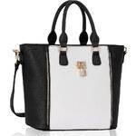 LS fashion LS dámská kabelka LS0031A černo-bílá