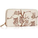 LS fashion LS dámská peněženka LSP1046 sovy slonová kost