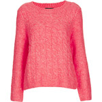 Topshop Knitted Felted Cable Jumper