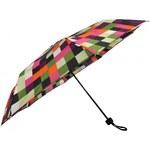 S.Oliver Dámský skládací mechanický deštník Enjoy Modern Chess Multi Colour 70803SO16-1
