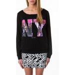 """Tally Weijl Black """"NY Skyline"""" Print Sweater"""