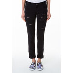 Tally Weijl Black Ripped Pants with Ankle Zips