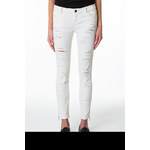 Tally Weijl White Ripped Pants with Ankle Zips