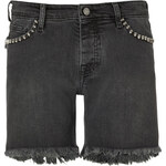 Zadig & Voltaire Cutoff Jean Shorts with Skull Studs