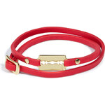McQ by Alexander McQueen Leather Wrap Bracelet with Razor Blade