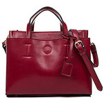 BXQD Elegant Genuine Leather Large Capacity Tote
