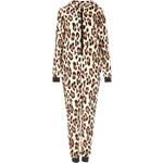 Topshop Leopard Print Fleece Onesie