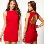LightInTheBox Women's Sexy Sleeveless Backless Red Dress