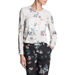 Mango Floral print flowy blouse