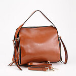 LightInTheBox Makko Women's Simple Decorative Zipper Leather Tote