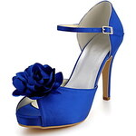 LightInTheBox Lovely Satin Stiletto Heel With Ankle-Strap And Satin Flower Pep Toe Sandals Wedding Shoes(More Colors)