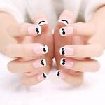 LightInTheBox 24PCS ABS Cute Moustache Full Cover Finger Nail Art Tips