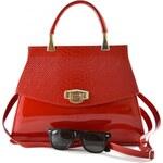 Červená lakovaná kabelka do ruky Rebelia CoCo Fashion