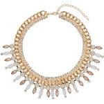 Topshop Premium Chunky Chain Stone Collar