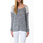 Tally Weijl Grey Knitted Jumper with Lace Back