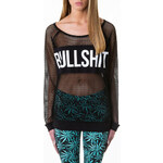 "Tally Weijl Black ""Bullshit"" Net Jumper"