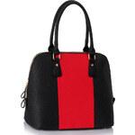 L&S Fashion (Anglie) Kabelka LS00242 černočervená