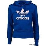 Adidas Dámská modro/bílá mikina adidas Originals TREFOIL HOODIE