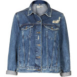 Topshop MOTO Vintage Wash Denim Jacket