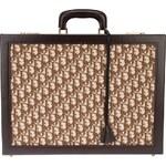 Christian Dior Vintage Monogram Embellished Briefcase