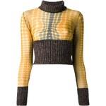 Jean Paul Gaultier Vintage Cropped Two-Tone Sweater