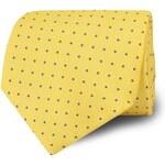 T.M.Lewin Yellow Blue Small Spot Tie