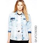ASOS CURVE Exclusive Denim Jacket In Acid Wash
