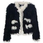Chanel Vintage Cropped Faux Fur Jacket