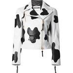 Moschino Cow Hide Effect Biker Jacket
