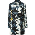 Carven Silhouette Print Overcoat