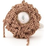 Arielle De Pinto Chained Pearl Ring