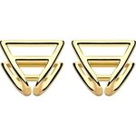 Coops London Triangle Squeeze On Earrings