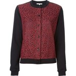 Carven Lace Panel Cardigan
