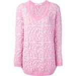Julien David Oversize Embossed Pattern Sweater
