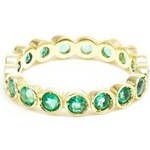 Jagga 18Kt Gold 'Dots' Emerald Midi Ring