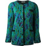 Yves Saint Laurent Vintage Jacquard Long Cardigan