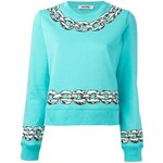 Boutique Moschino Chain Print Sweatshirt