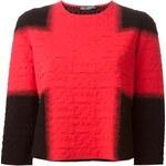 Alexander Mcqueen Textured Cropped Sweater