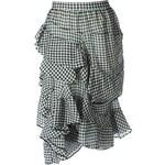 Chloé Gingham Check Asymmetric Skirt