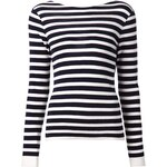 Rag & Bone 'Linda Cowlback' Striped Sweater