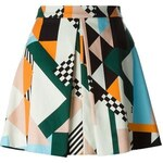 Msgm Printed A-Line Skirt