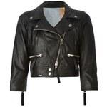 Sword Cropped Biker Jacket