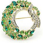 LightInTheBox Gorgeous Alloy With Green Rhinestones Brooch