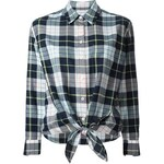 Equipment Tie Hem Plaid Shirt