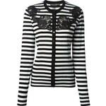 Dolce & Gabbana Lace Detail Striped Cardigan